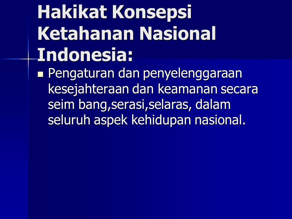 Hakikat Konsepsi Ketahanan Nasional Indonesia: