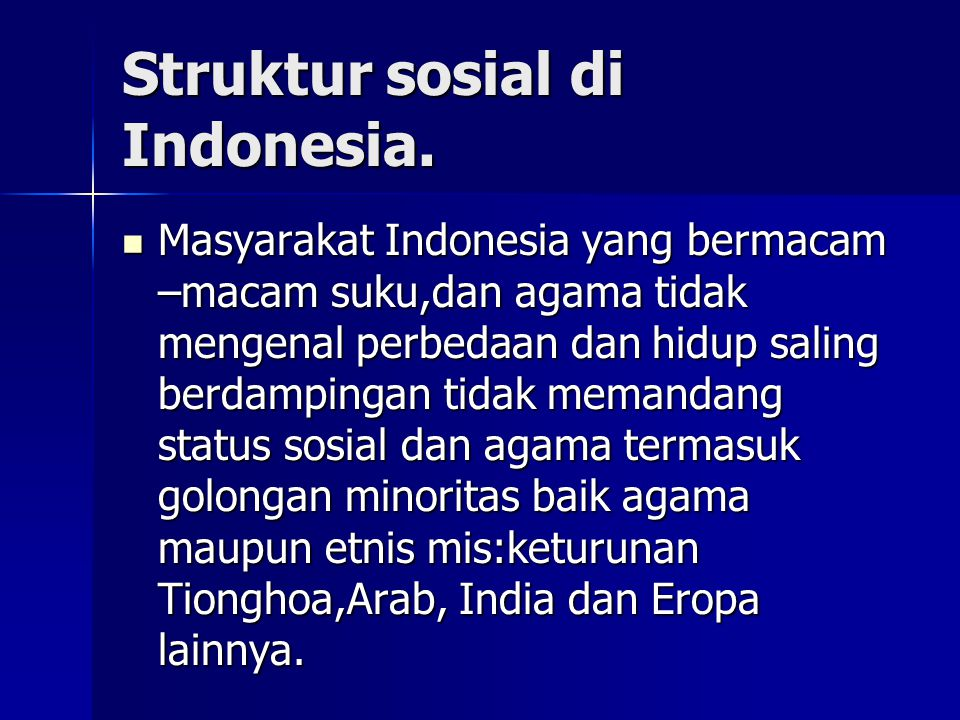 Struktur sosial di Indonesia.