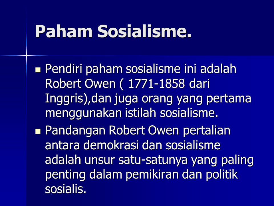 Paham Sosialisme.