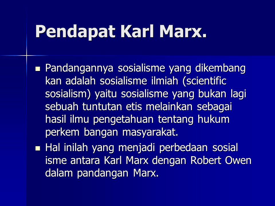 Pendapat Karl Marx.