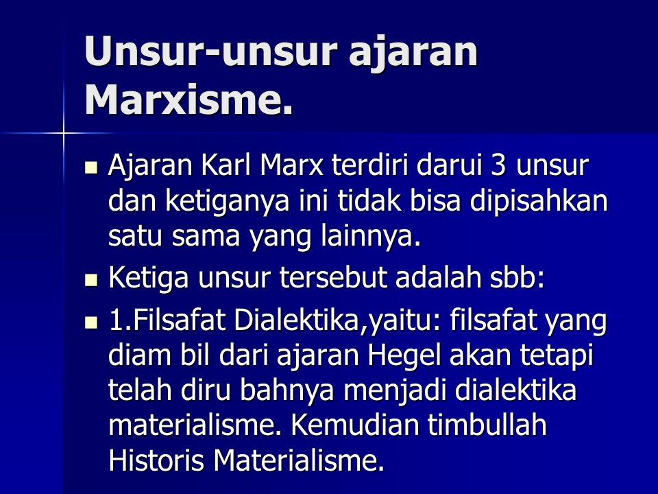Unsur-unsur ajaran Marxisme.
