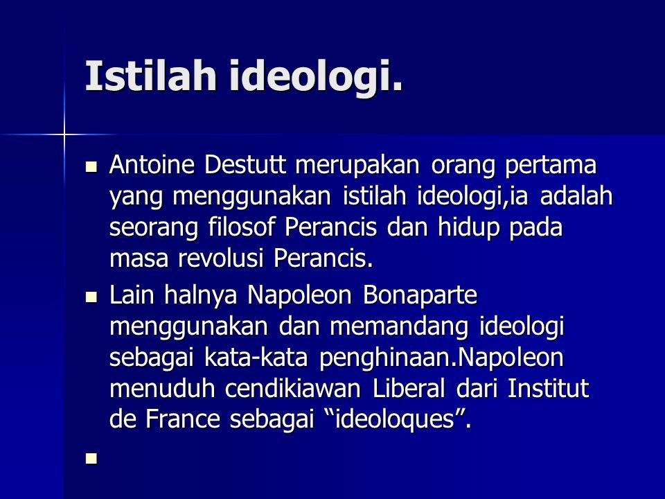 Istilah ideologi.