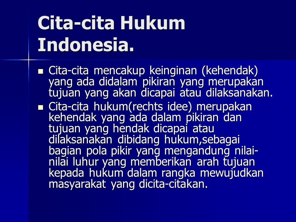 Cita-cita Hukum Indonesia.