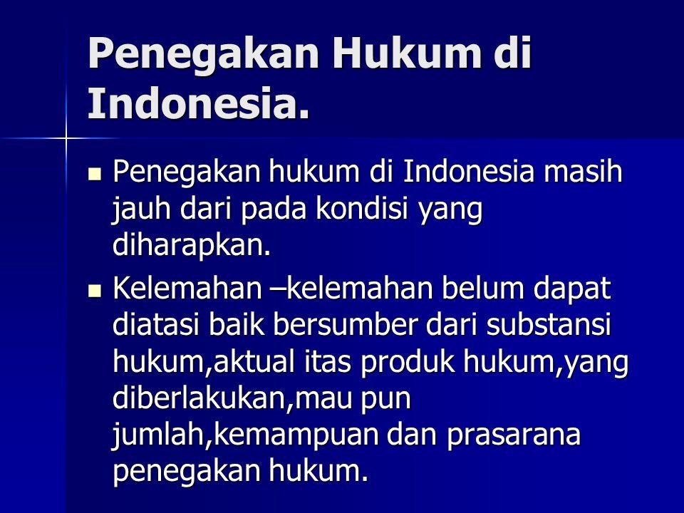 Penegakan Hukum di Indonesia.