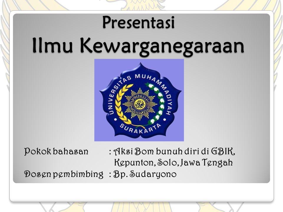 Presentasi Ilmu Kewarganegaraan