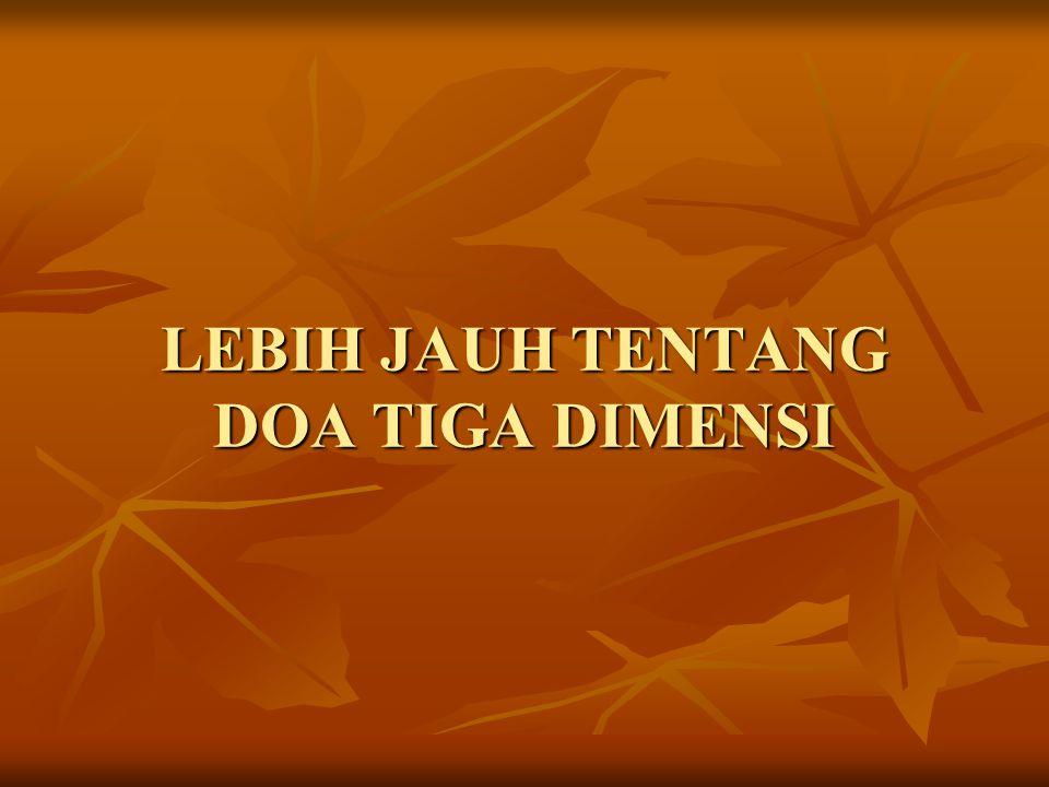 LEBIH JAUH TENTANG DOA TIGA DIMENSI