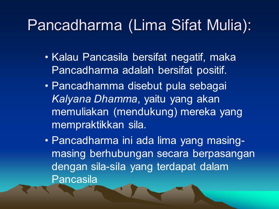 Pancadharma (Lima Sifat Mulia):