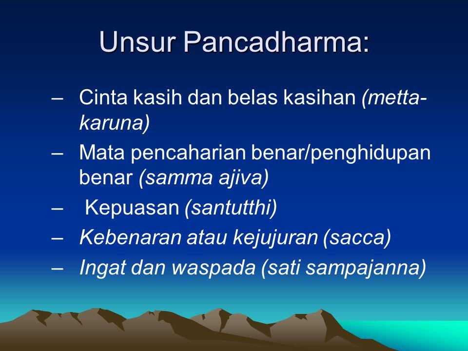 Unsur Pancadharma: Cinta kasih dan belas kasihan (metta- karuna)