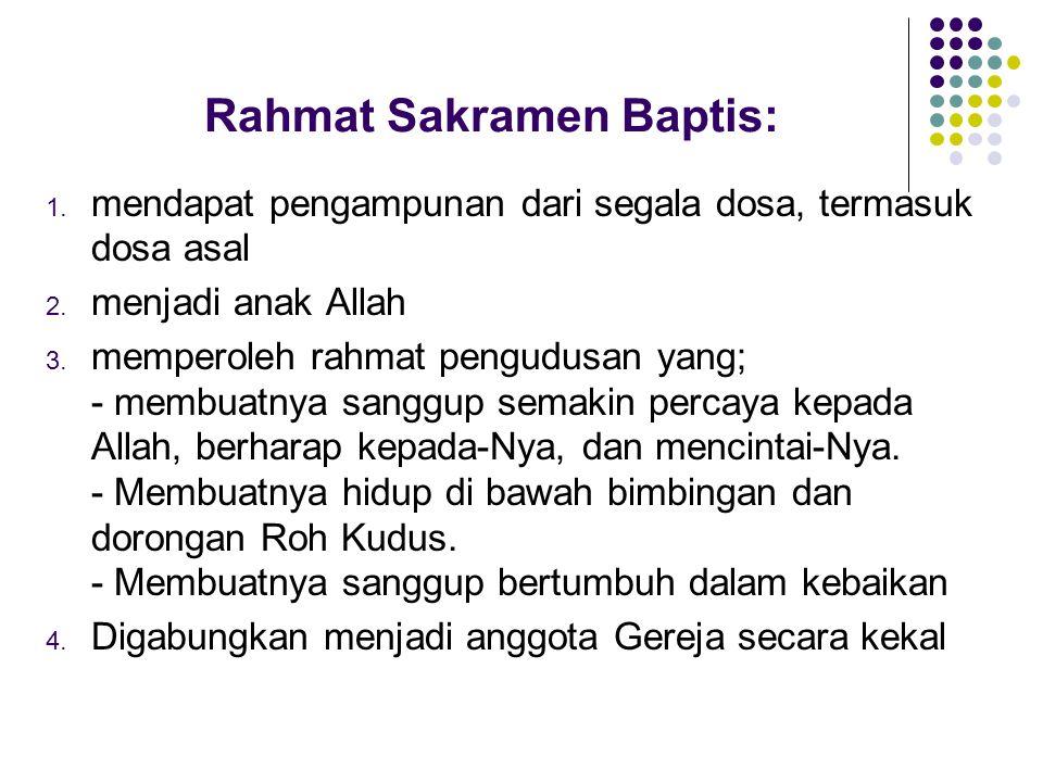 Rahmat Sakramen Baptis: