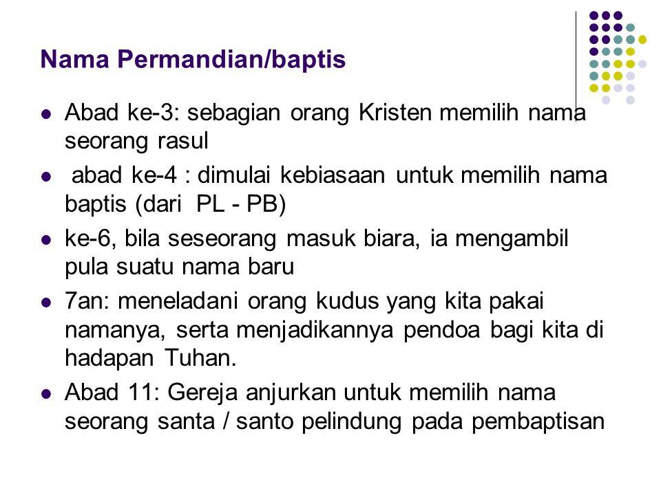 Nama Permandian/baptis