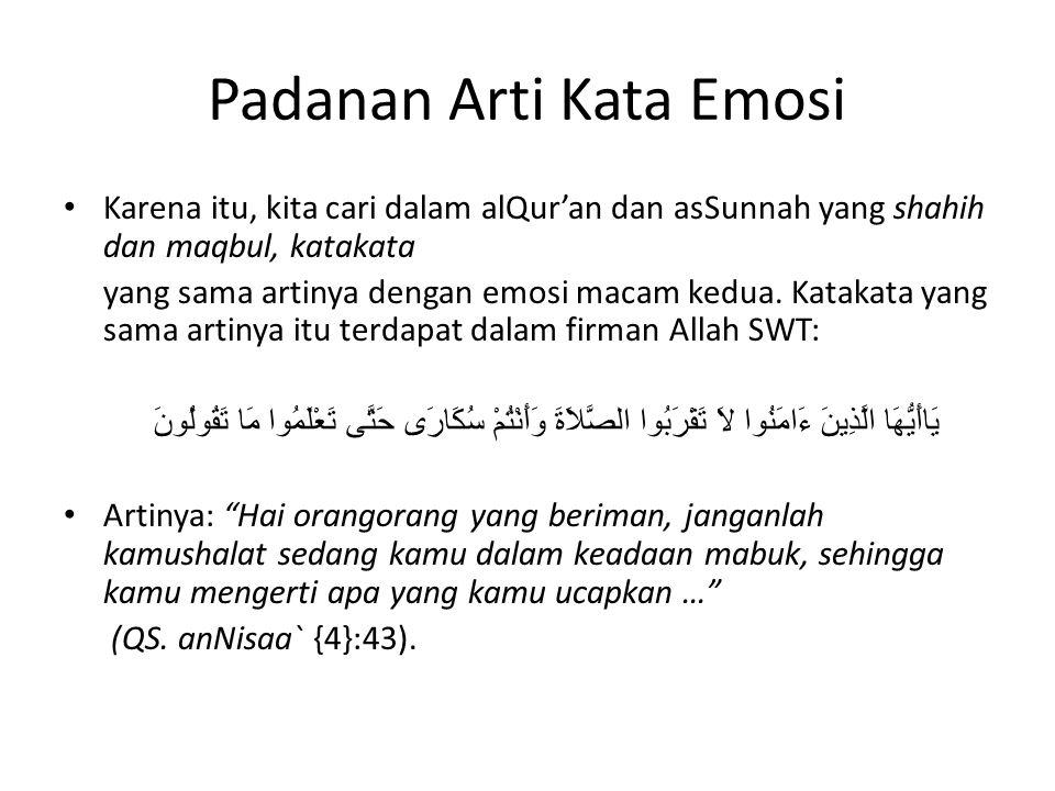 Padanan Arti Kata Emosi
