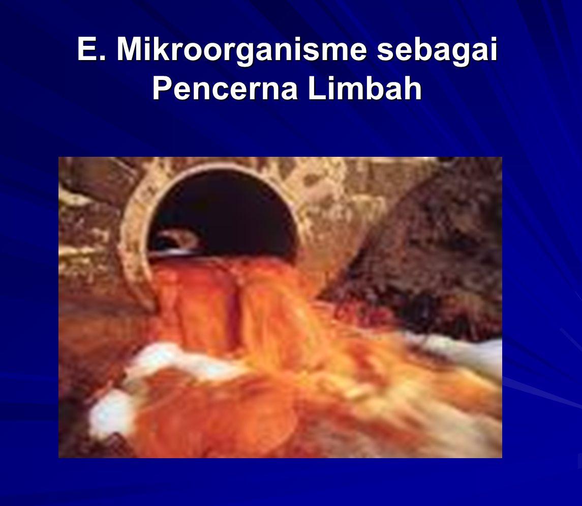 E. Mikroorganisme sebagai Pencerna Limbah