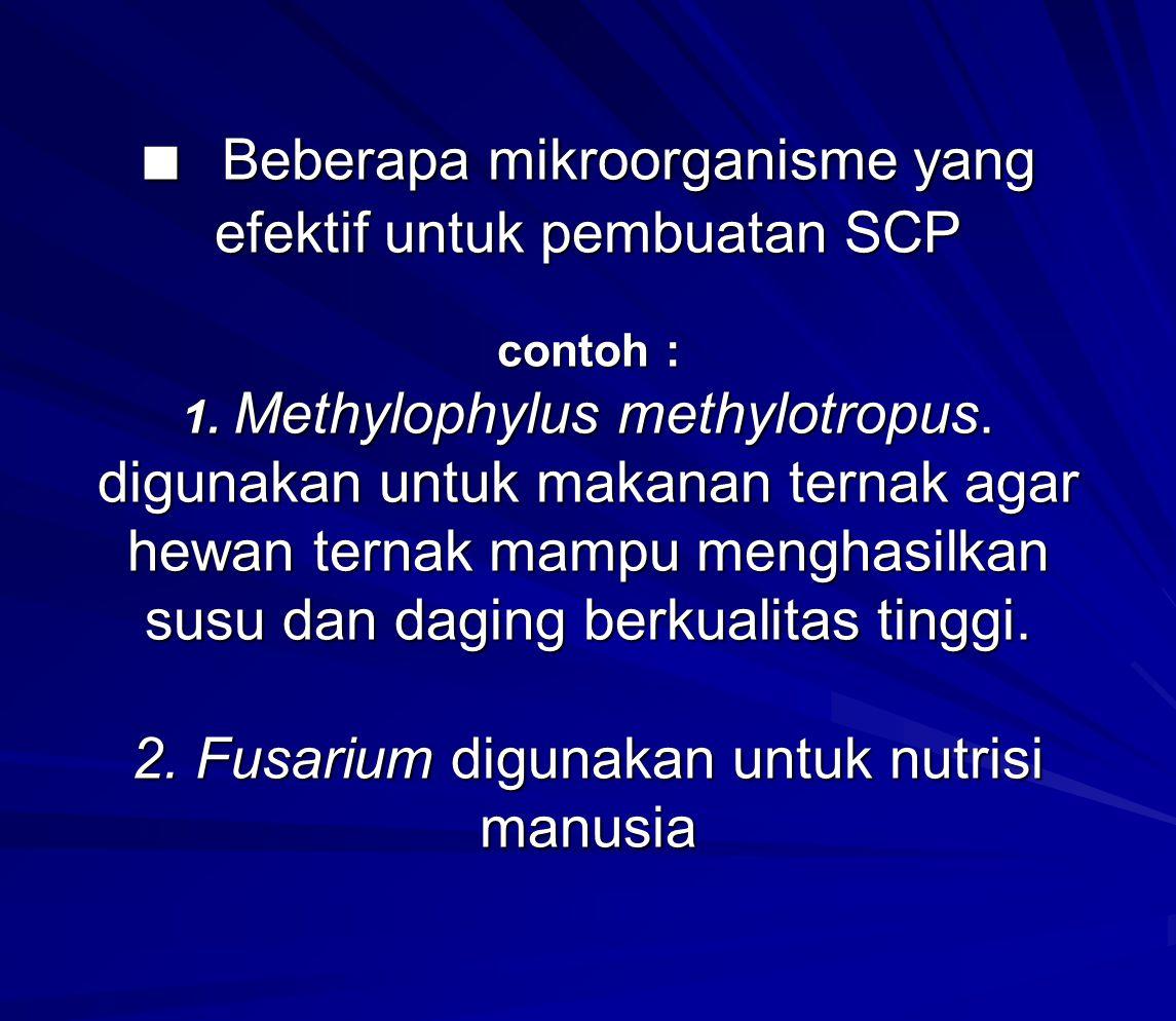 ■ Beberapa mikroorganisme yang efektif untuk pembuatan SCP contoh : 1