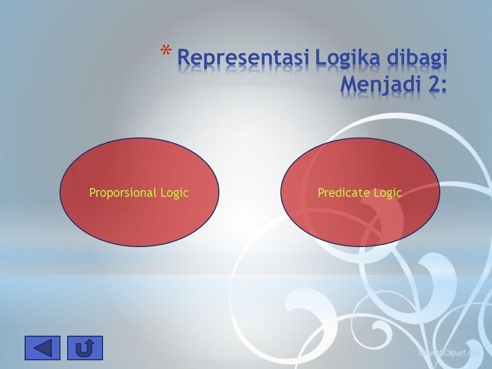Representasi Logika dibagi Menjadi 2:
