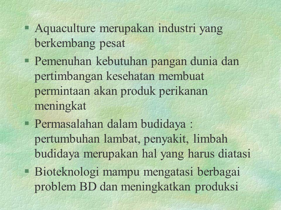 Aquaculture merupakan industri yang berkembang pesat