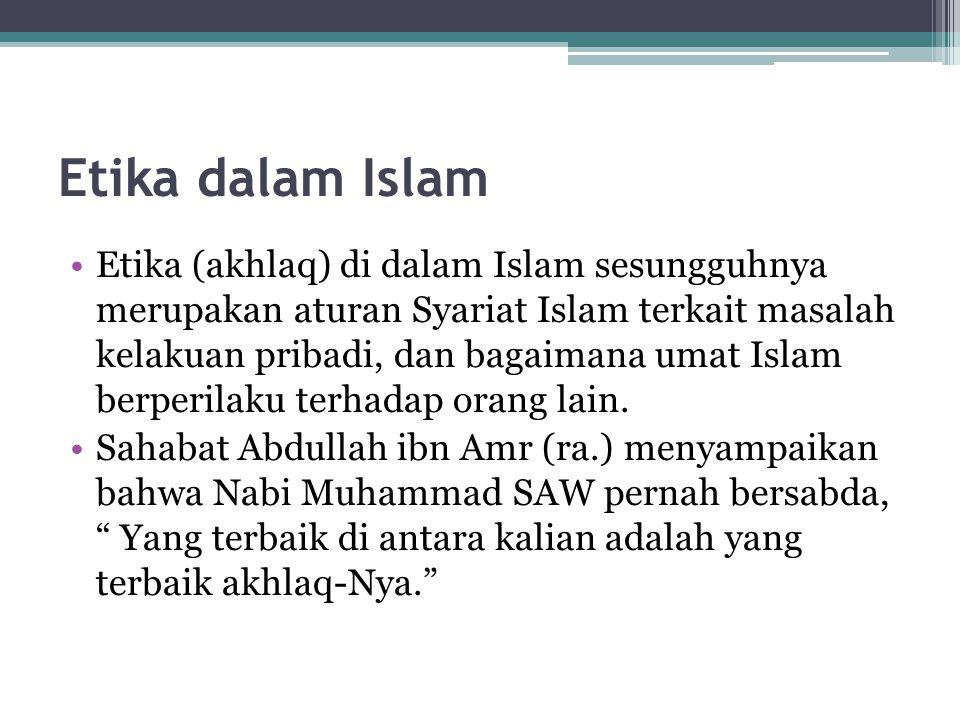 Etika dalam Islam