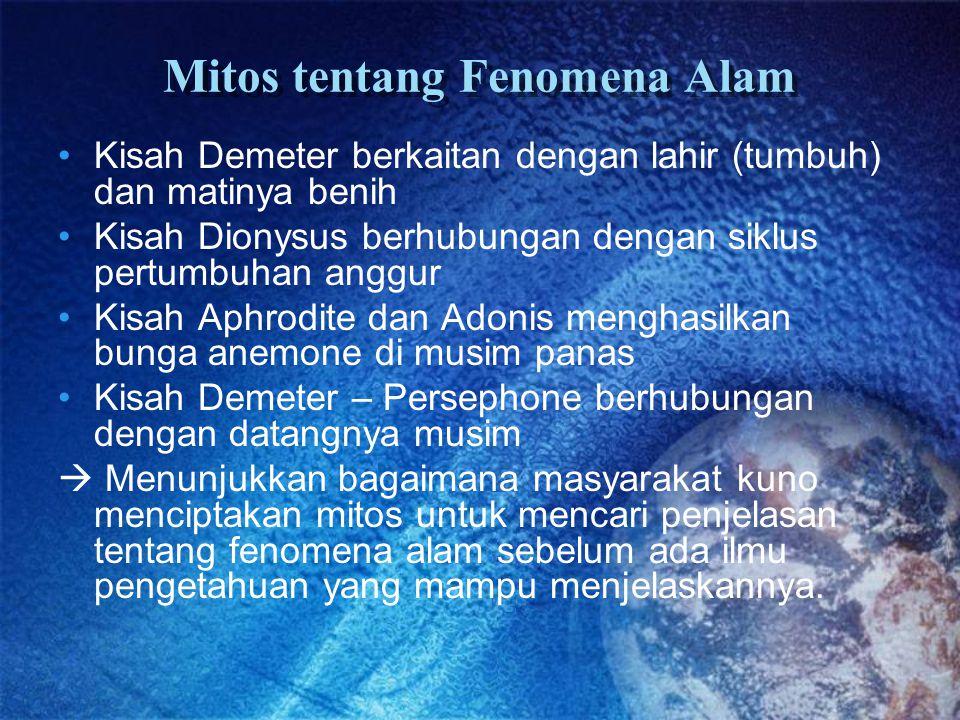 Mitos tentang Fenomena Alam
