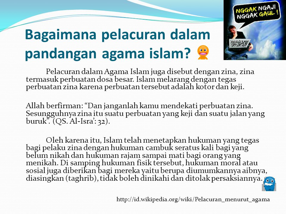 Bagaimana pelacuran dalam pandangan agama islam