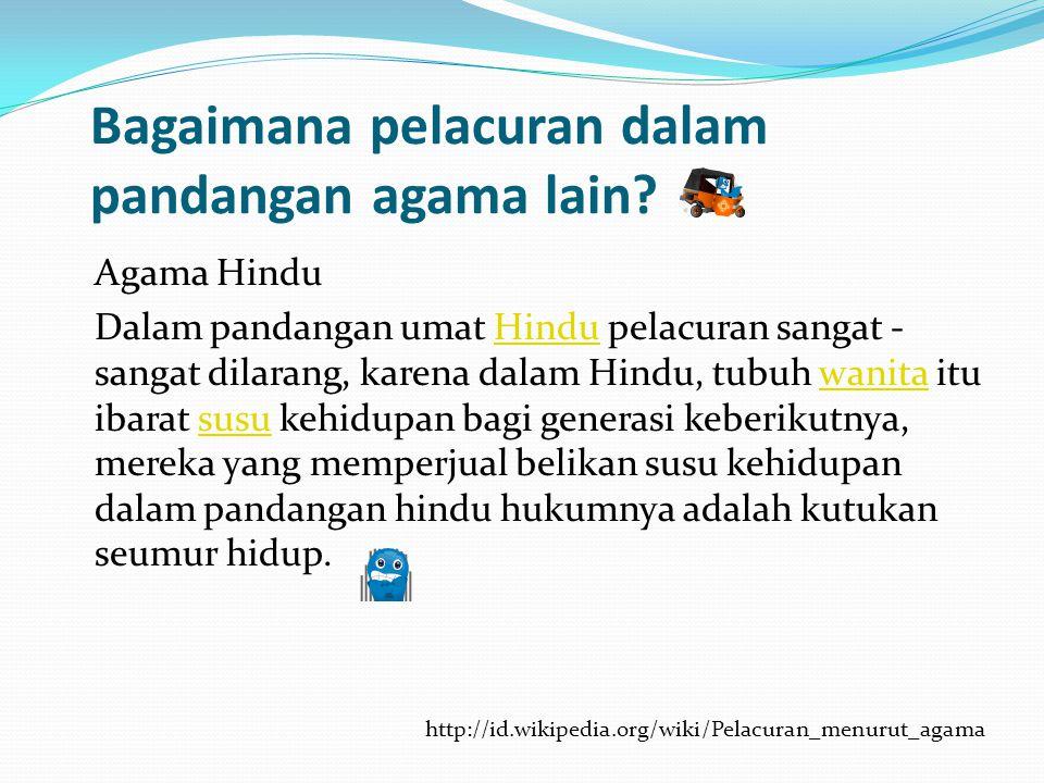 Bagaimana pelacuran dalam pandangan agama lain
