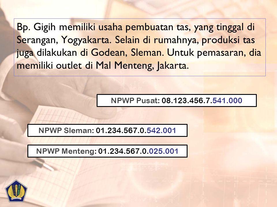 Bp. Gigih memiliki usaha pembuatan tas, yang tinggal di Serangan, Yogyakarta. Selain di rumahnya, produksi tas juga dilakukan di Godean, Sleman. Untuk pemasaran, dia memiliki outlet di Mal Menteng, Jakarta.