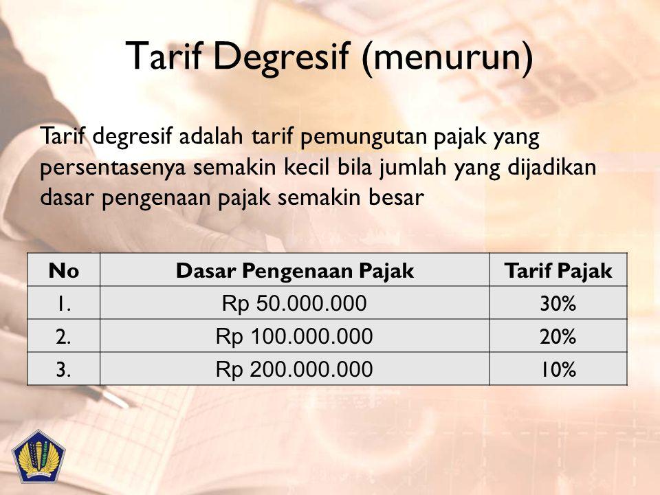 Tarif Degresif (menurun)