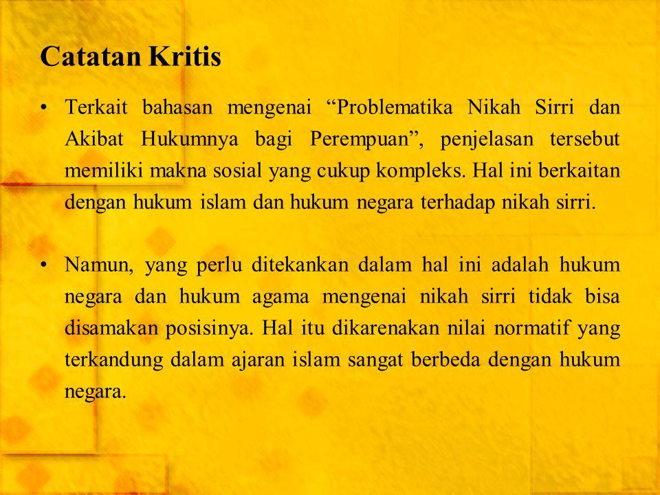 Catatan Kritis