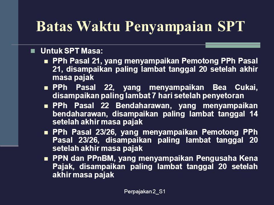 Batas Waktu Penyampaian SPT
