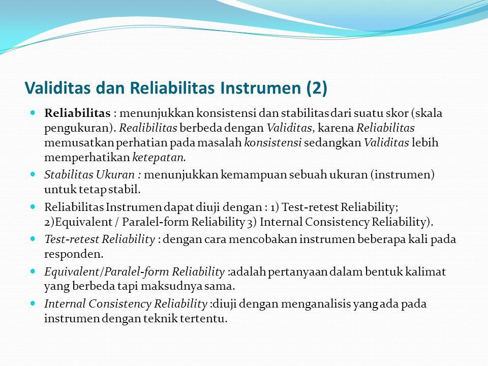 Validitas dan Reliabilitas Instrumen (2)