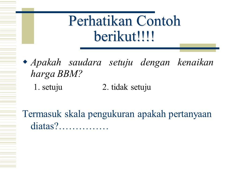 Perhatikan Contoh berikut!!!!