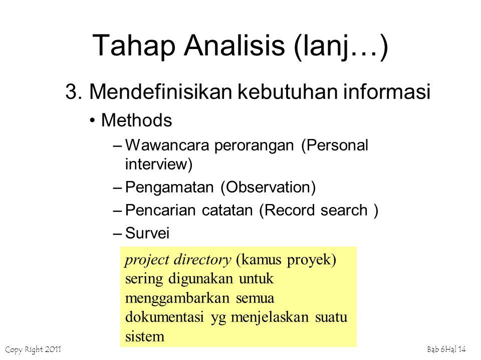 Tahap Analisis (lanj…)