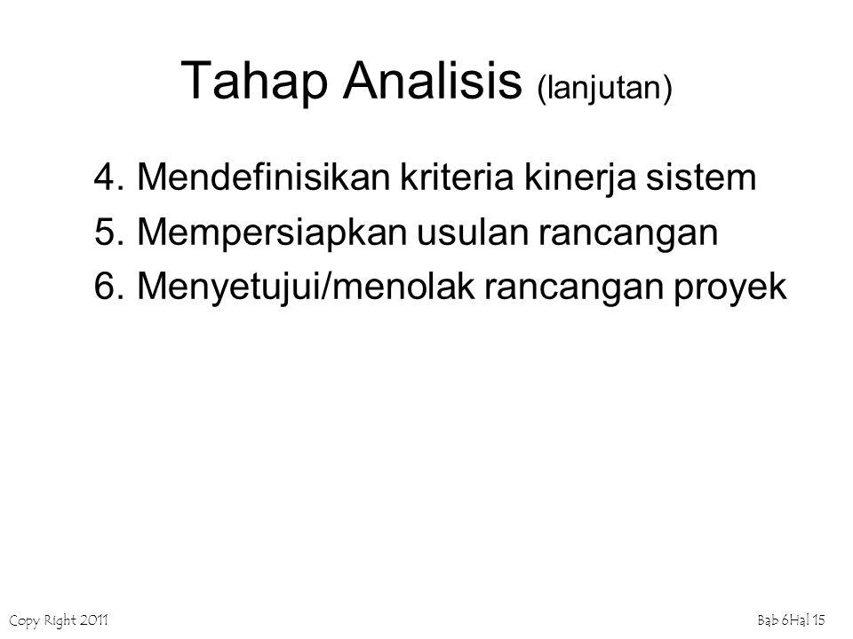 Tahap Analisis (lanjutan)