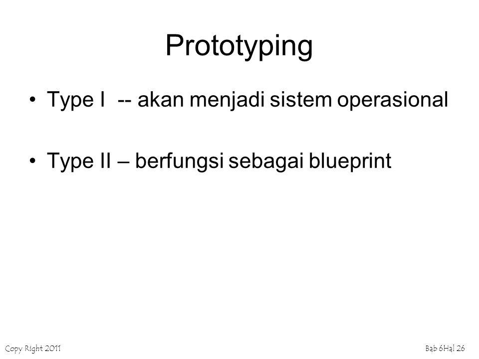 Prototyping Type I -- akan menjadi sistem operasional