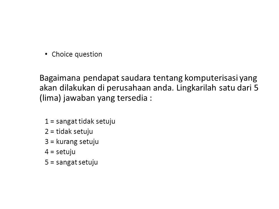 Choice question