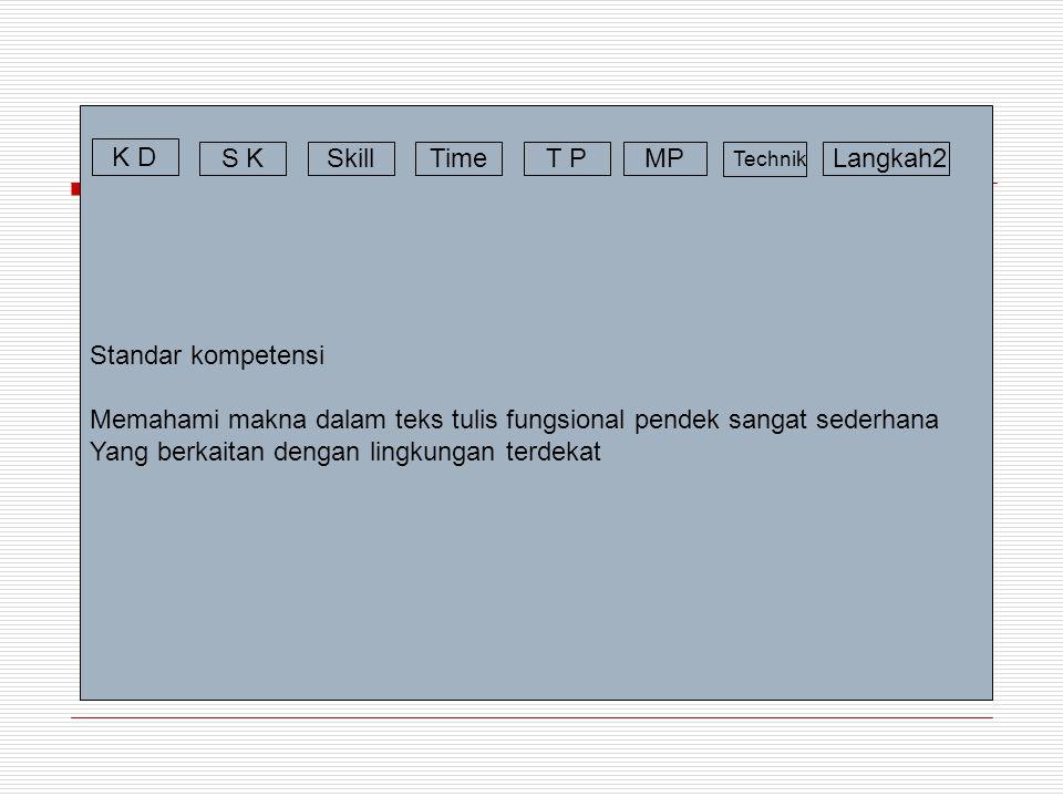 Memahami makna dalam teks tulis fungsional pendek sangat sederhana