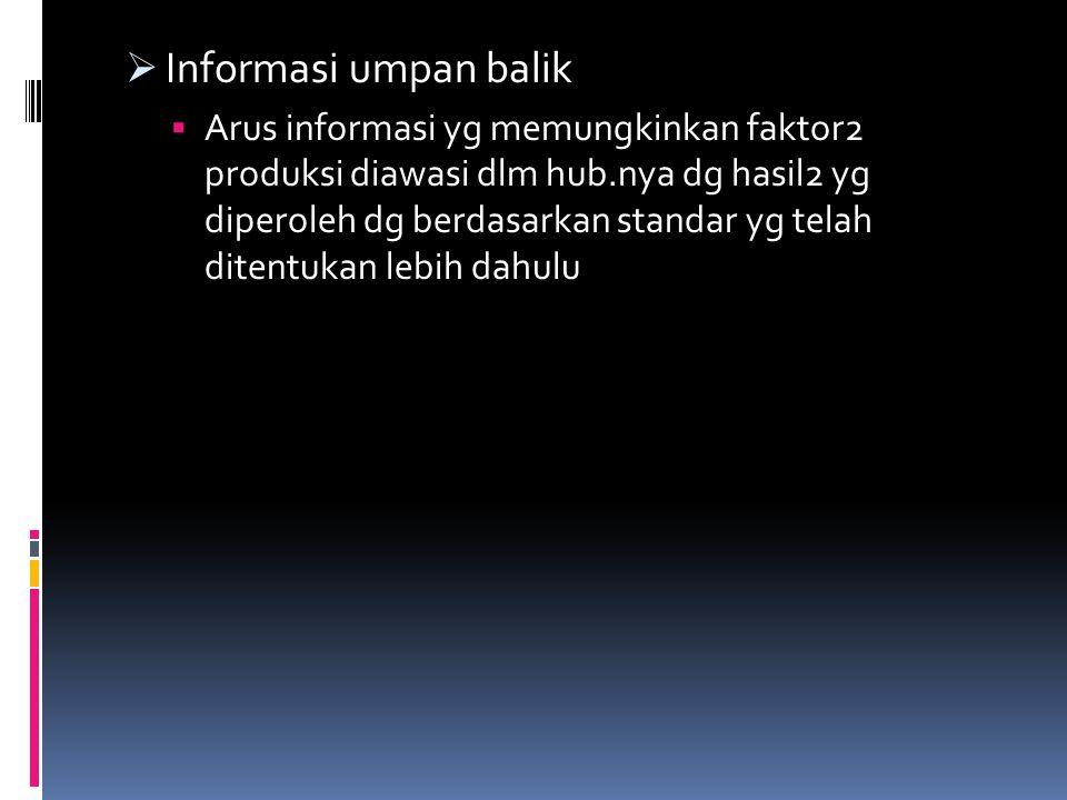 Informasi umpan balik