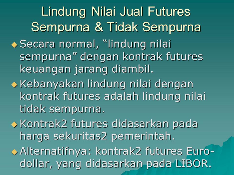 Lindung Nilai Jual Futures Sempurna & Tidak Sempurna
