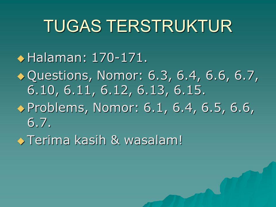 TUGAS TERSTRUKTUR Halaman: 170-171.