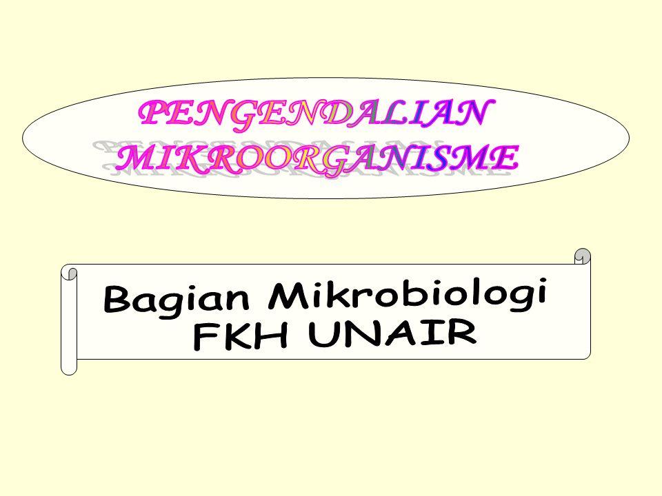 PENGENDALIAN MIKROORGANISME Bagian Mikrobiologi FKH UNAIR
