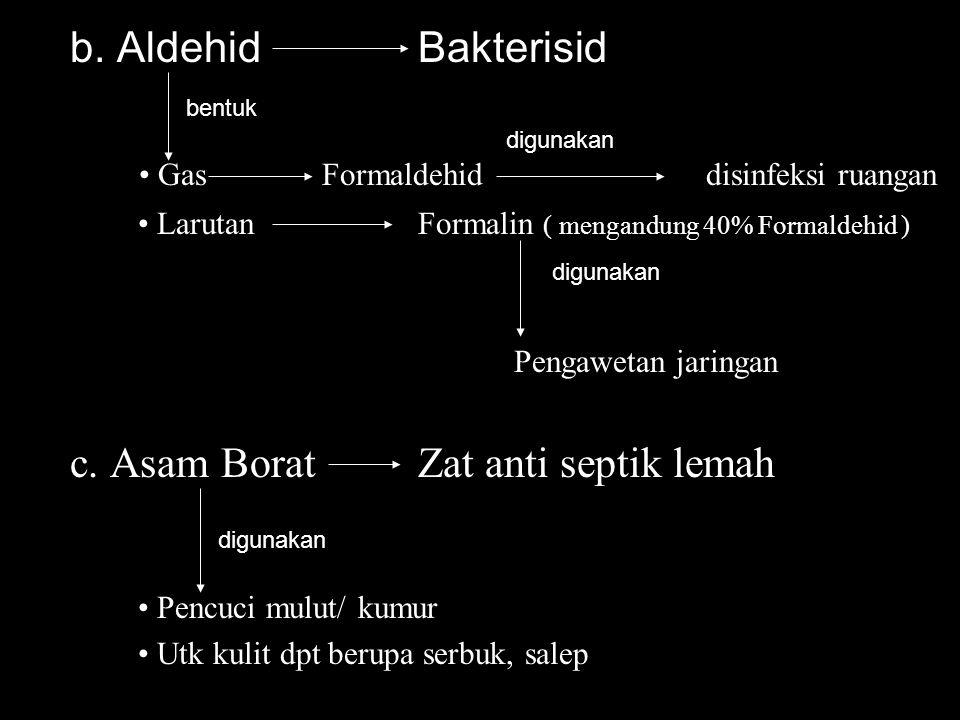 • Gas Formaldehid disinfeksi ruangan