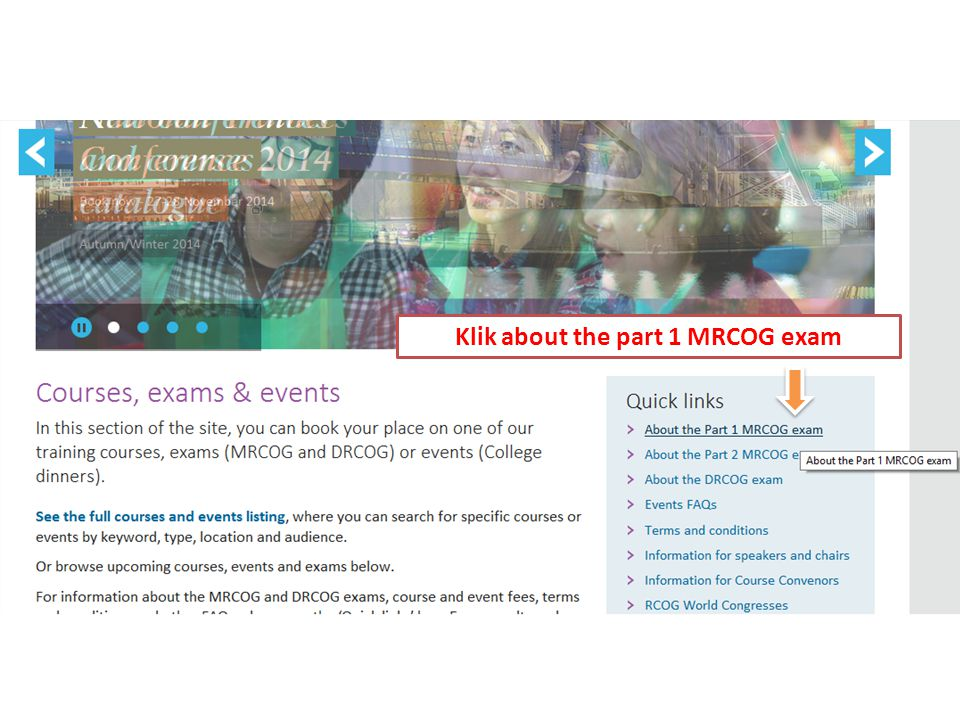 Klik about the part 1 MRCOG exam