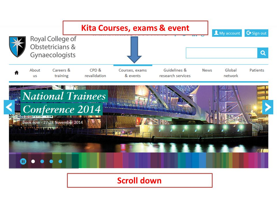 Kita Courses, exams & event