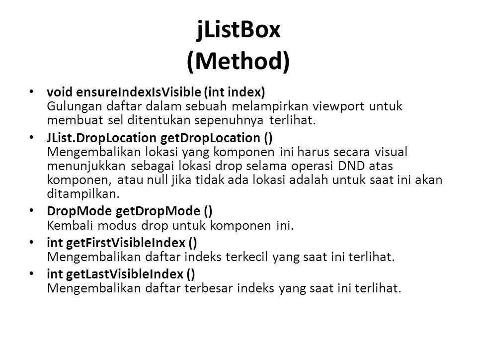 jListBox (Method)