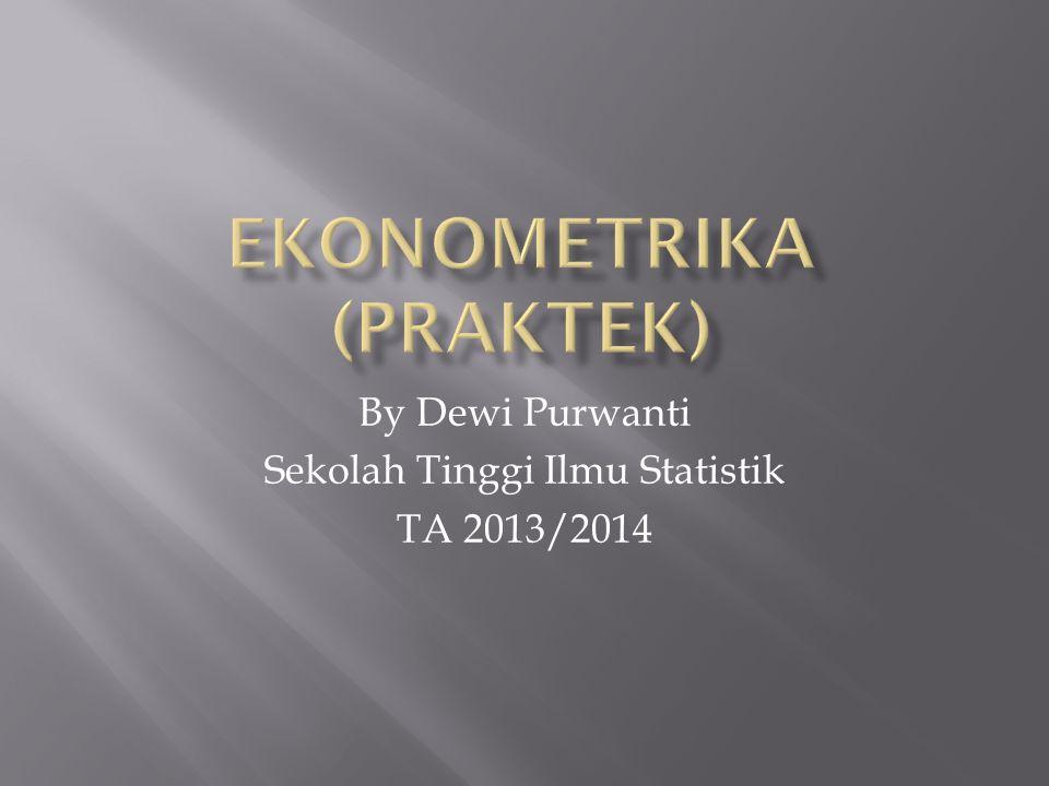Ekonometrika (PRAKTEK)