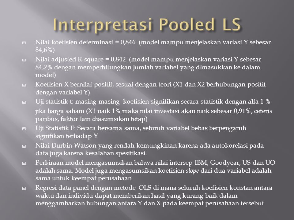 Interpretasi Pooled LS