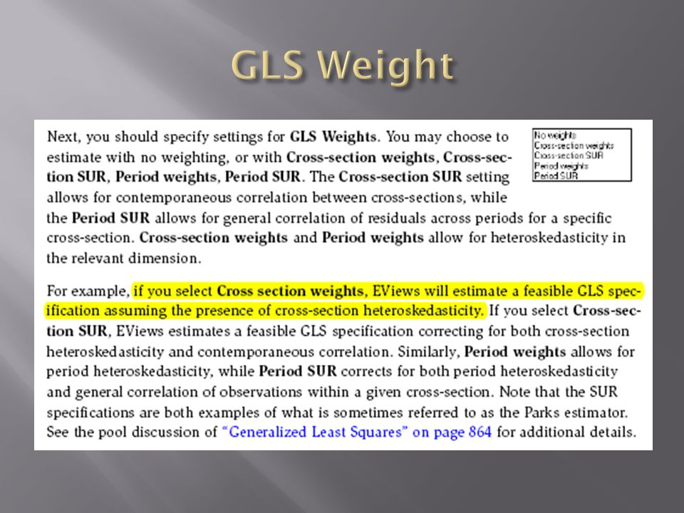 GLS Weight