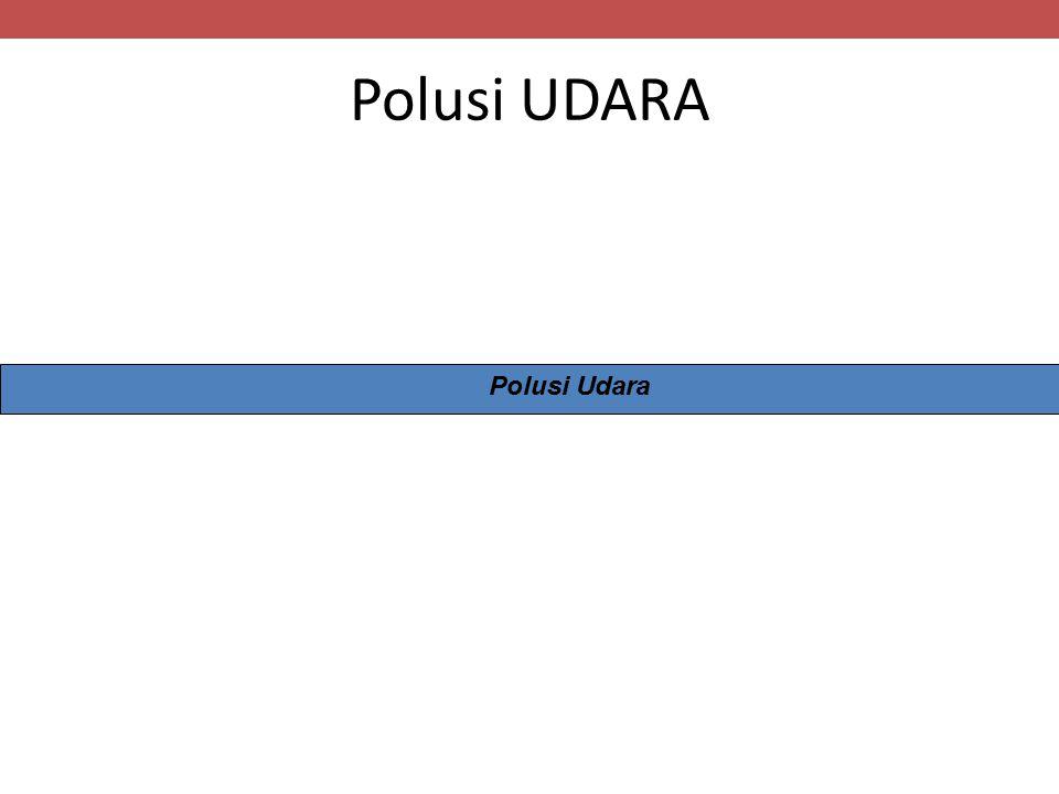 Polusi UDARA Polusi Udara