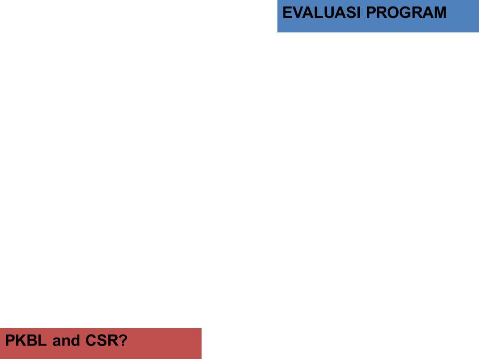 EVALUASI PROGRAM PKBL and CSR