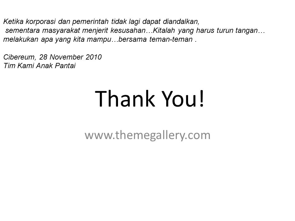 Thank You! www.themegallery.com