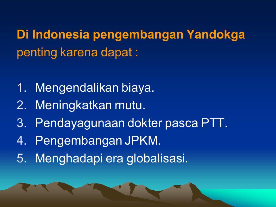 Di Indonesia pengembangan Yandokga