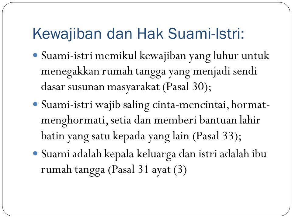 Kewajiban dan Hak Suami-Istri: